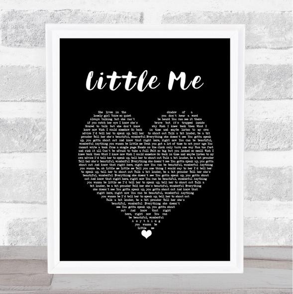 Little Mix Little Me Black Heart Song Lyric Wall Art Print