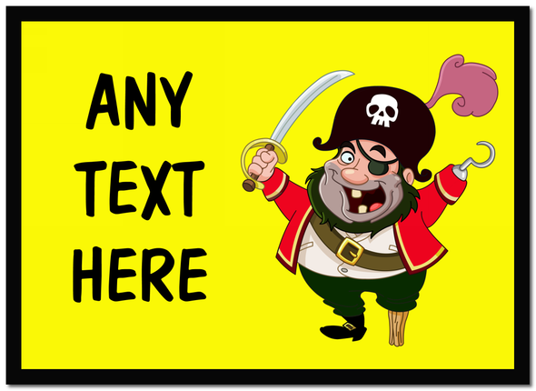 Yellow Pirate Personalised Dinner Table Placemat