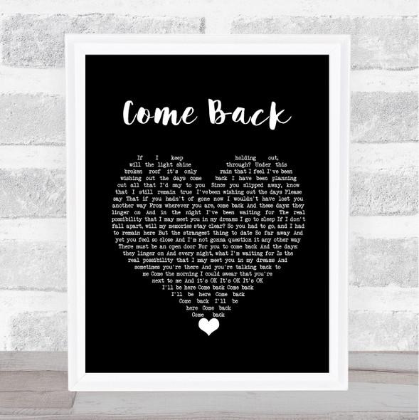 Pearl Jam Come Back Black Heart Song Lyric Wall Art Print