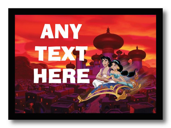 Aladdin Personalised Dinner Table Placemat
