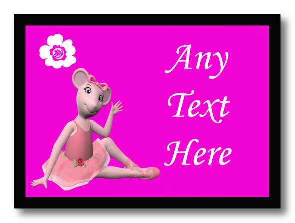 Angelina Ballerina Personalised Dinner Table Placemat