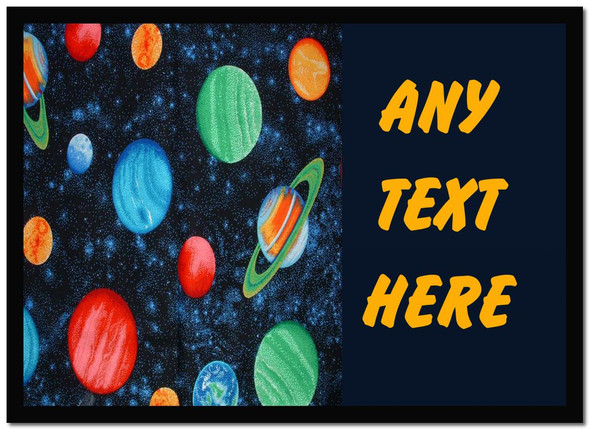 Planets Stars Space Personalised Dinner Table Placemat