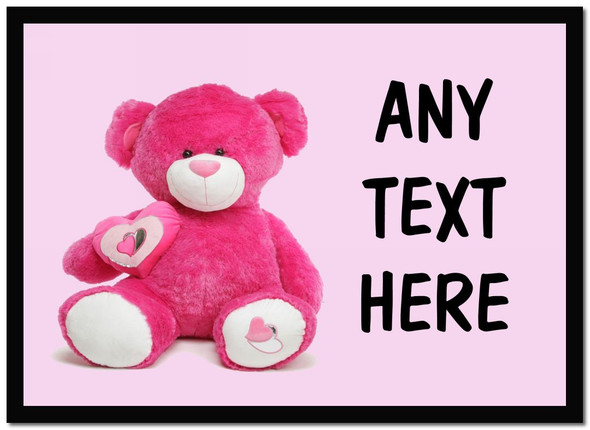 Pink Bear Personalised Dinner Table Placemat