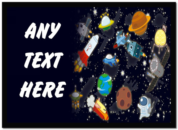 Space Rocket Stars Personalised Dinner Table Placemat