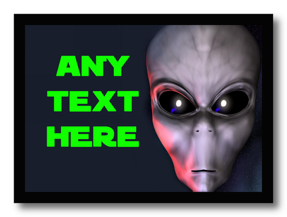 Blue Alien Personalised Dinner Table Placemat