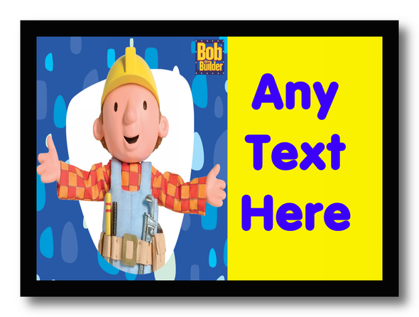 Bob The Builder Personalised Dinner Table Placemat