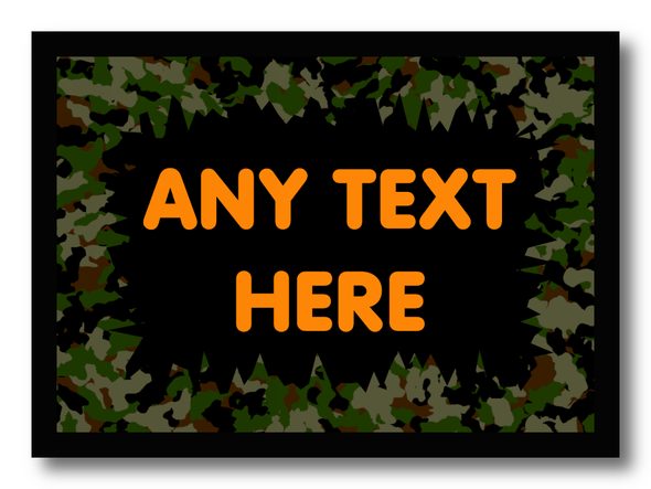 Camouflage Army Personalised Dinner Table Placemat
