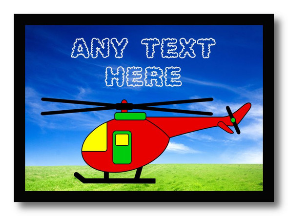 Helicopter Personalised Dinner Table Placemat