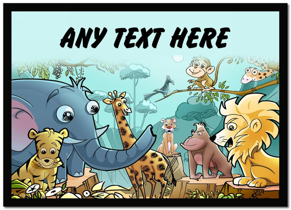 Animal Jungle Personalised Dinner Table Placemat