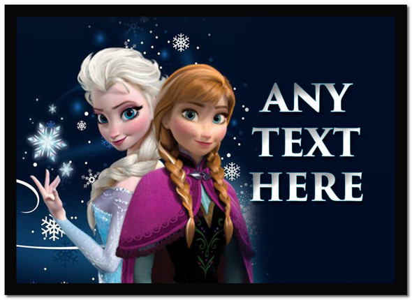 Anna And Elsa Frozen Personalised Dinner Table Placemat