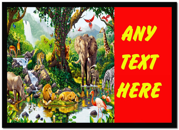Animal Jungle Red Personalised Dinner Table Placemat