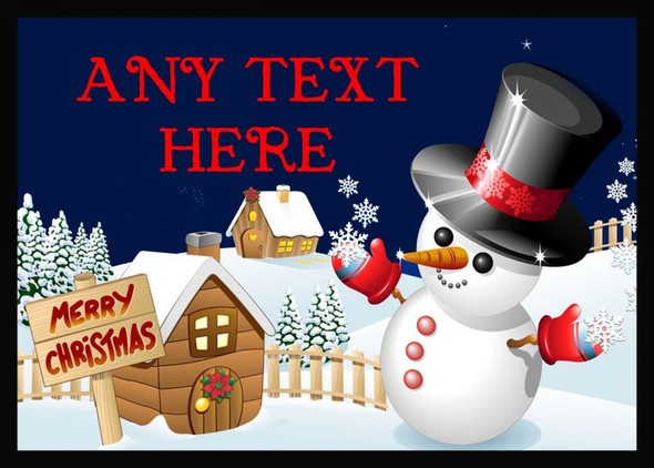 Jolly Snowman Christmas Personalised Dinner Table Placemat