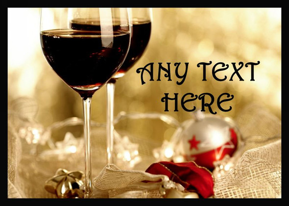 Wine Christmas Personalised Dinner Table Placemat