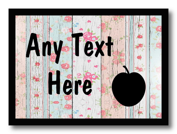 Apple Shabby Wood Personalised Dinner Table Placemat