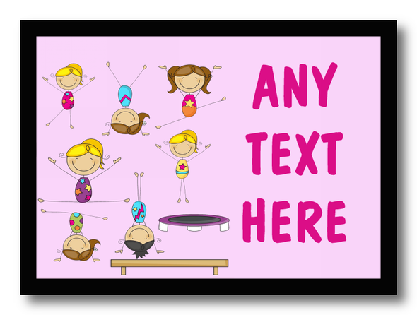 Gymnastics Personalised Dinner Table Placemat