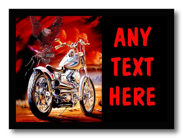Harley Davidson Motorbike Red Personalised Dinner Table Placemat