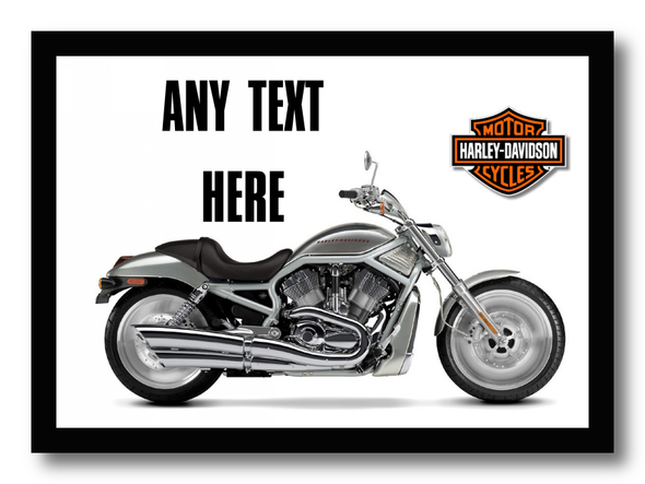 Harley Davidson Motorbike Personalised Dinner Table Placemat