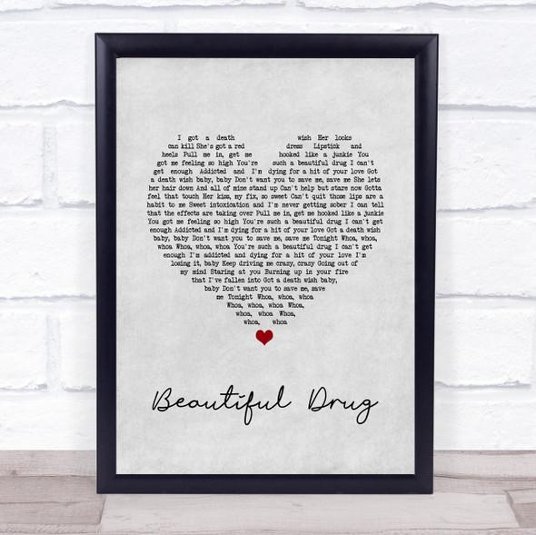 Zac Brown Band Beautiful Drug Grey Heart Song Lyric Wall Art Print