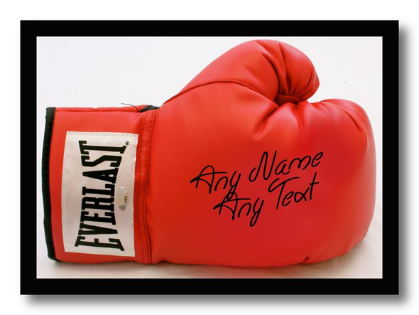 Boxing Glove Personalised Dinner Table Placemat