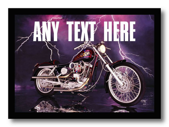 Purple Harley Davidson Personalised Dinner Table Placemat