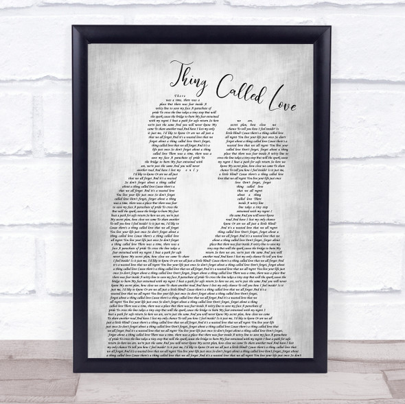 Above & Beyond Thing Called Love Man Lady Bride Groom Wedding Grey Song Lyric Wall Art Print