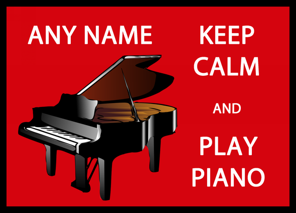 Keep Calm And Love Play Piano Personalised Dinner Table Placemat