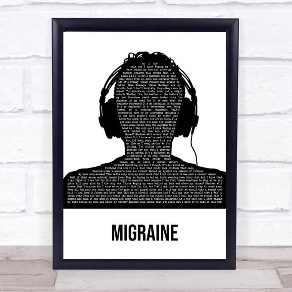 Twenty One Pilots Migraine Multicolour Man Headphones Song Lyric Wall Art Print