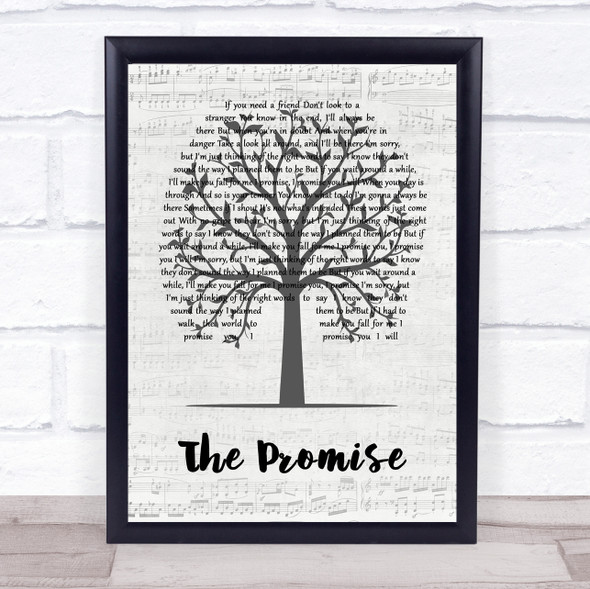 Sturgill Simpson The Promise Music Script Tree Song Lyric Wall Art Print