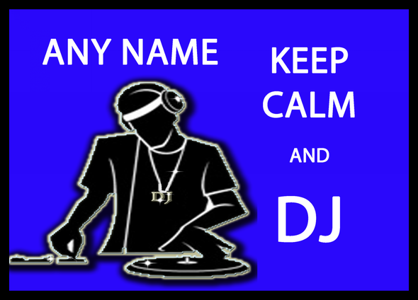 Keep Calm And DJ Personalised Dinner Table Placemat
