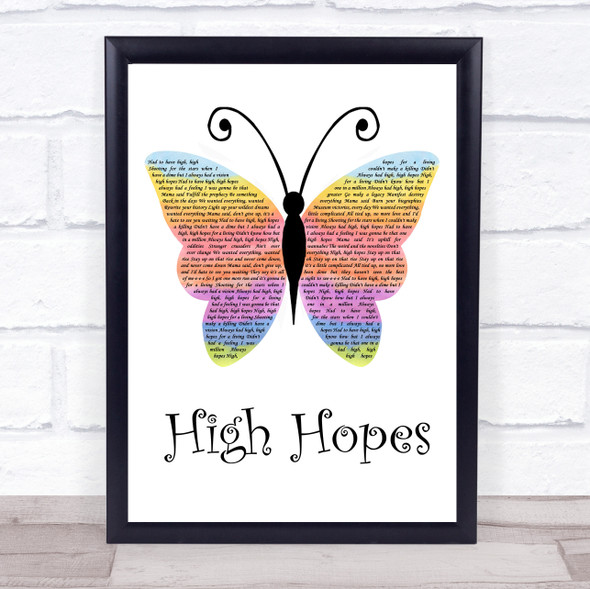 Panic! At The Disco High Hopes Rainbow Butterfly Song Lyric Wall Art Print
