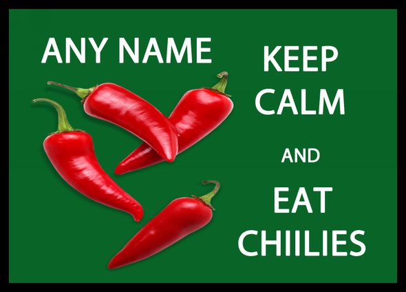 Keep Calm And Eat Chillies Personalised Dinner Table Placemat