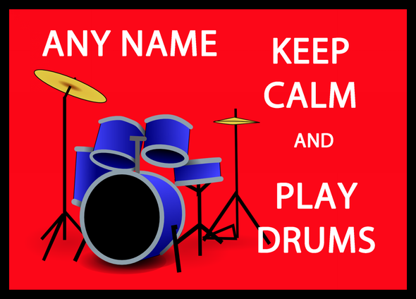 Keep Calm And Play Drums Personalised Dinner Table Placemat