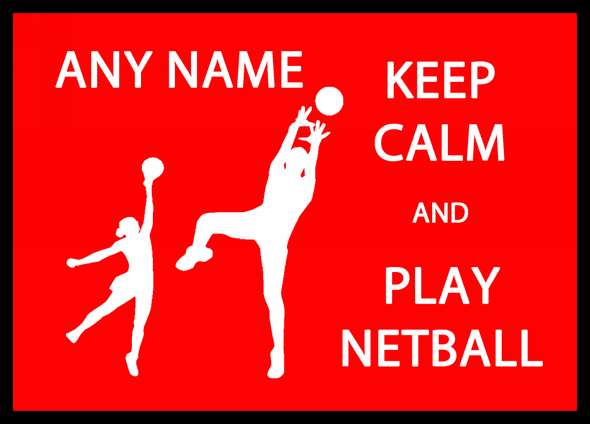Keep Calm And Play Netball Personalised Dinner Table Placemat