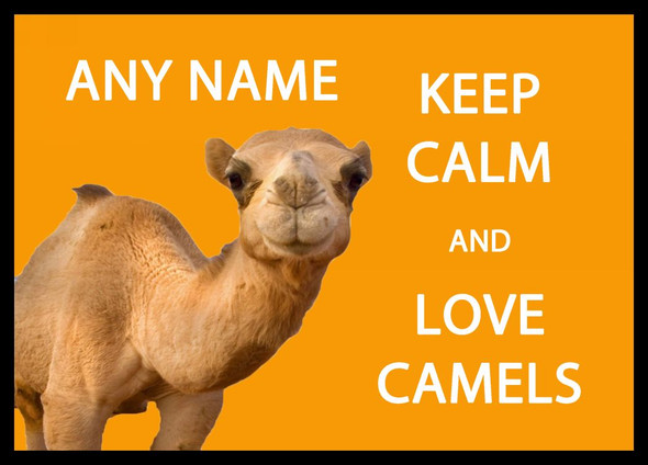 Keep Calm And Love Camels Personalised Dinner Table Placemat