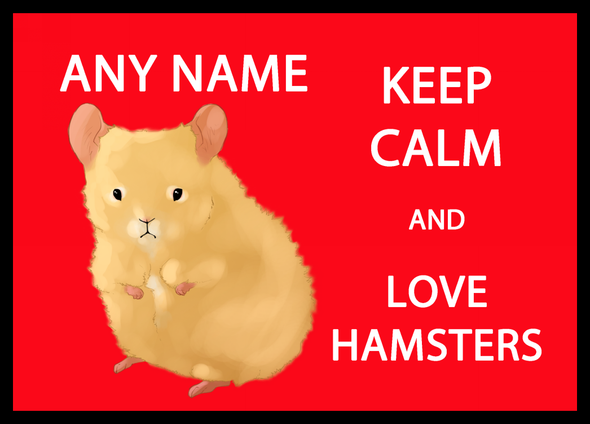 Keep Calm And Love Hamsters Personalised Dinner Table Placemat