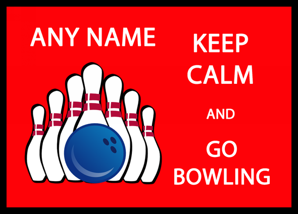 Keep Calm And Go Bowling Personalised Dinner Table Placemat
