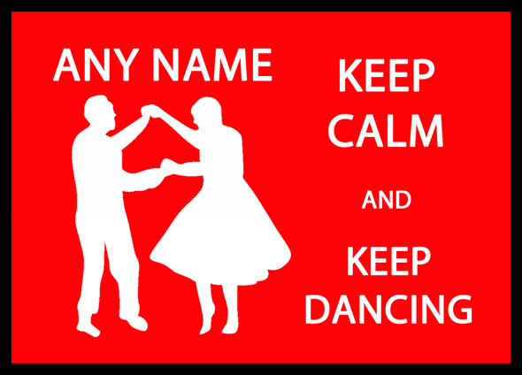Keep Calm And Keep Dancing Personalised Dinner Table Placemat