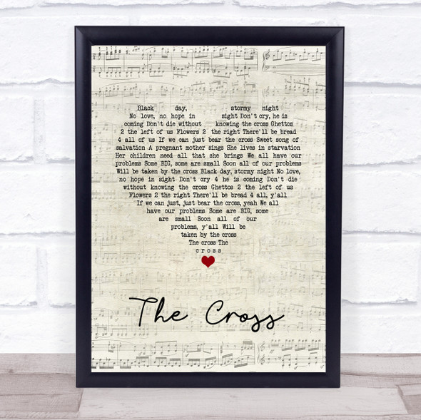 Prince The Cross Script Heart Song Lyric Wall Art Print