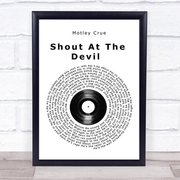 Motley Crue Shout At The Devil Vinyl Record Song Lyric Wall Art Print