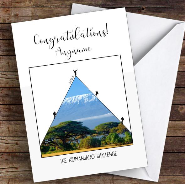 Kilimanjaro Photographic Style Congratulations Personalised Greetings Card