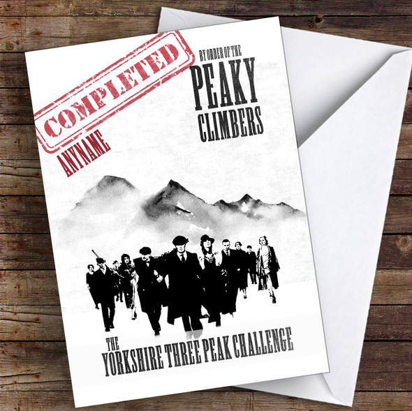 Yorkshire 3 Peaks Funny Congratulations Personalised Card