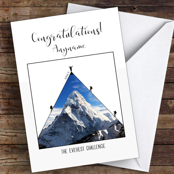 Everest Photographic Style Congratulations Personalised Greetings Card