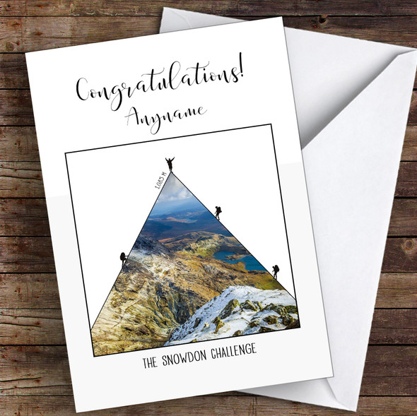 Snowdon Photographic Style Congratulations Personalised Greetings Card