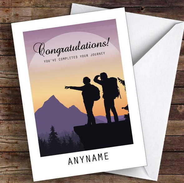 Hike Beautiful Silhouette Congratulations Personalised Greetings Card