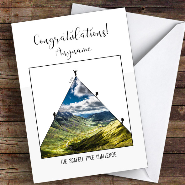 Scafell Pike Photographic Style Completed Personalised Greetings Card