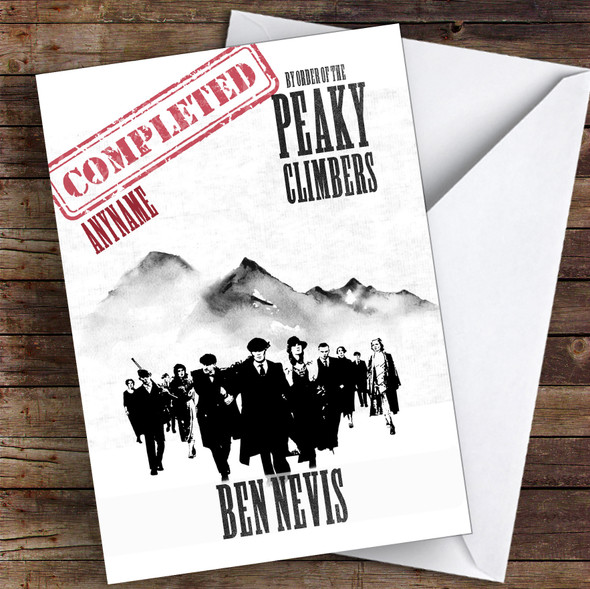 Ben Nevis Funny Completed Personalised Greetings Card