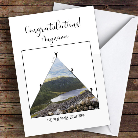 Ben Nevis Photographic Style Completed Personalised Greetings Card