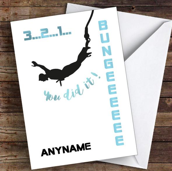 Bungee Jump Challenge You Did It Personalised Greetings Card