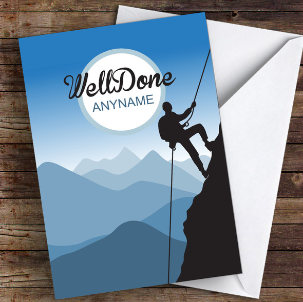 Climbing Challenge Well Done Personalised Greetings Card