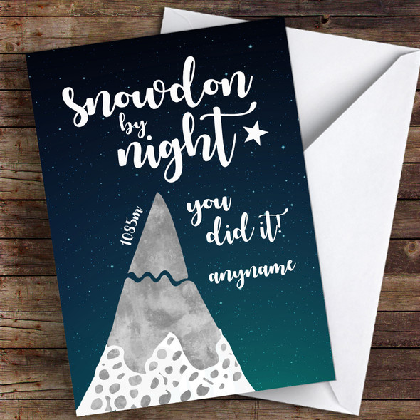 Snowdon By Night You Did It Personalised Greetings Card